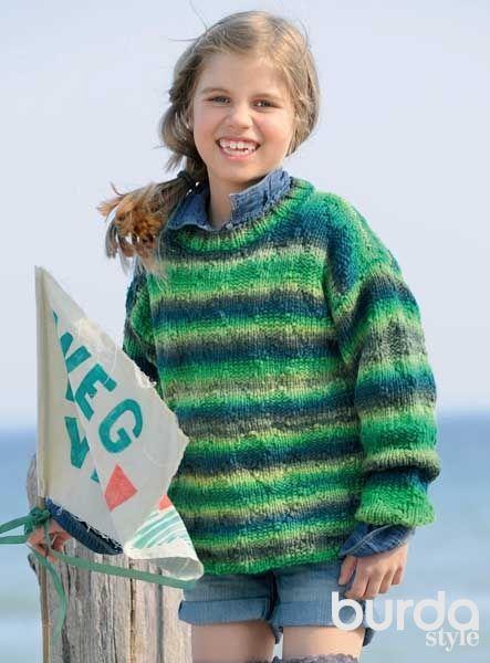 Пуловер для мальчика - схема вязания спицами. Вяжем Пуловеры