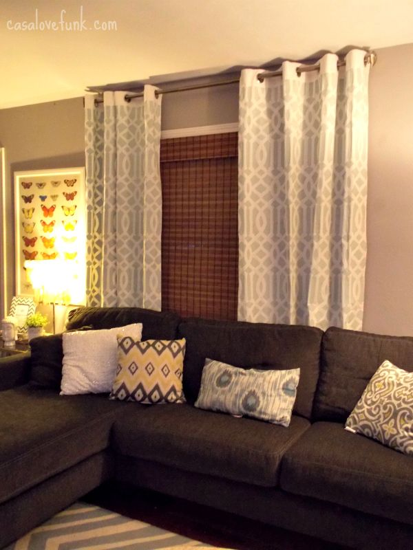 Curtains To Go With Grey Walls And Brown Sofa Curtain