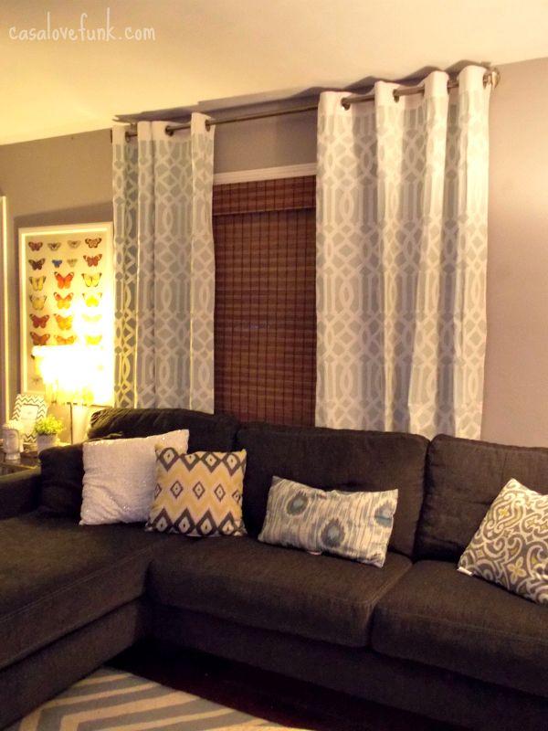 vorh nge f r wohnzimmer mit braunen m beln m bel. Black Bedroom Furniture Sets. Home Design Ideas