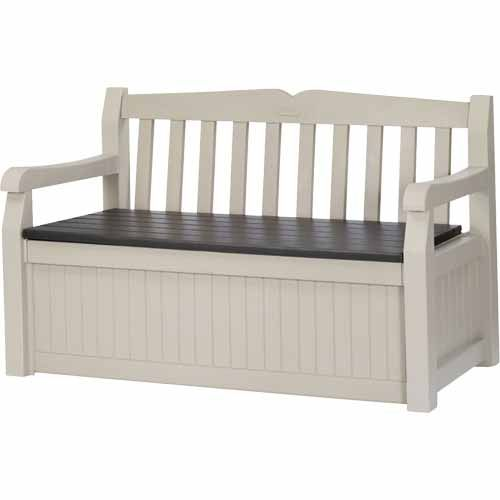 Nouveau Keter Park Bench Cushion Box Mitre 10 Patio