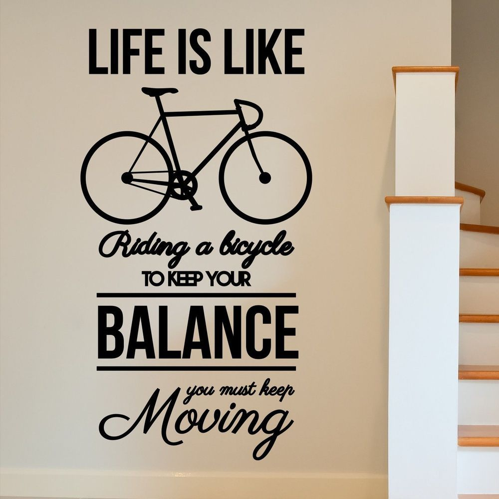 Attirant MOTIVATIONAL Bike Inspirational Moving Wall Art Sticker Decal Home DIY  Decoration Decor Wall Mural Removable Room