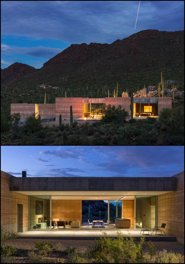 Nature still provides the best building materials as this rammed earth home  demonstrates.