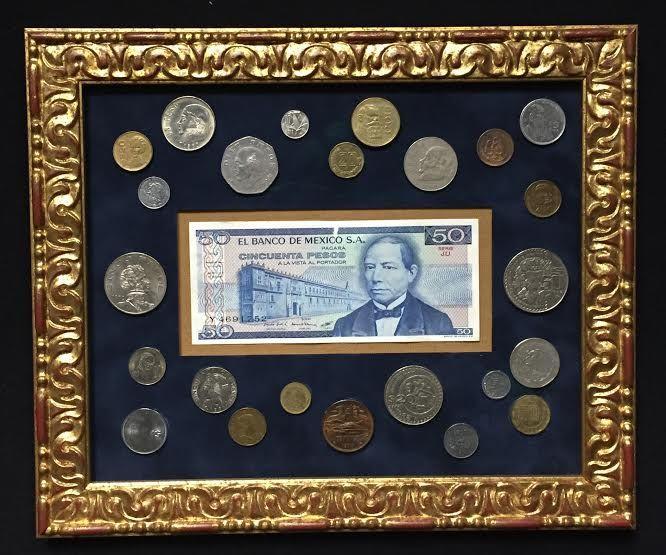 Souvenir coins from Mexico. Framing & Art Centre Calgary. 2015 ...