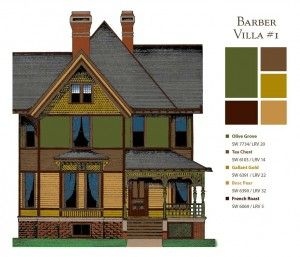 how to pick out a Victorian paint pallet