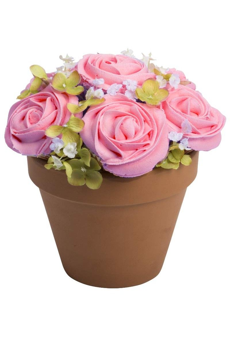 S potted in pink 6 piece cake flower cupcakes pinterest cake flower cupcake bouquets for delivery izmirmasajfo