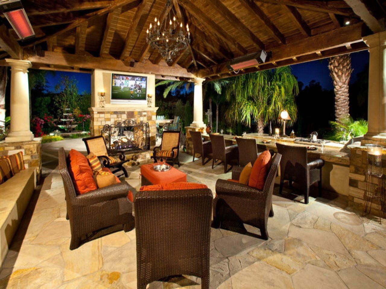 Luxury Outdoor Kitchens Pools Mediterranean Patio Outdoor