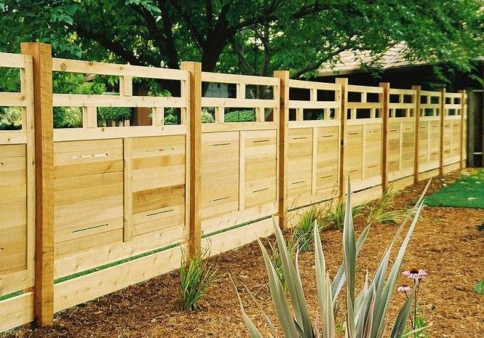 Wood Fences Design Ideas | KITCHENTODAY | fence | Pinterest | Fences ...