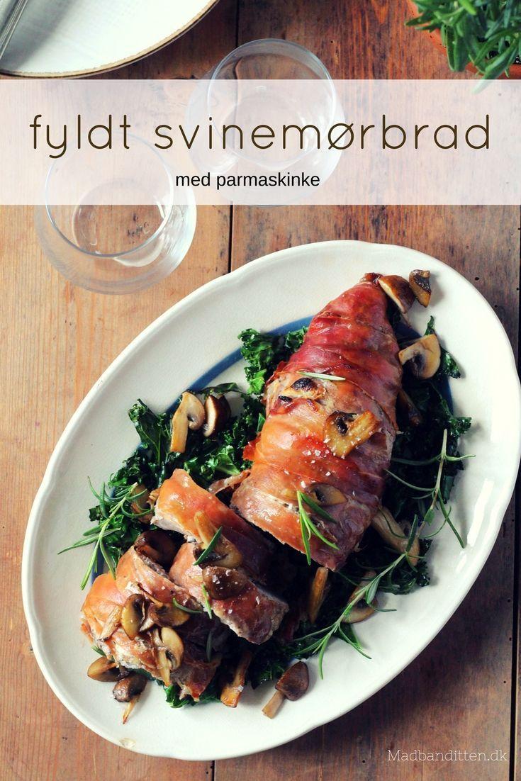 Fyldt svinemørbrad rullet i parmaskinke - opskrift på lækker aftensmad #sundaftensmad