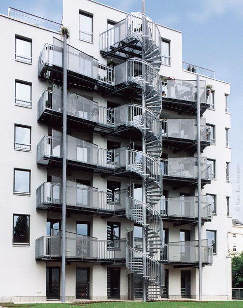 Наружная лестница, Лейпциг 2 - NAUTILUS   Элитные лестницы