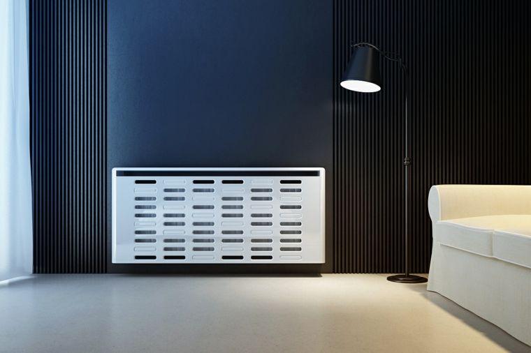 cubreradiadores modernos en blanco para el dormitorio