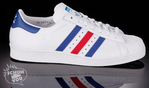 adidas superstar white blue
