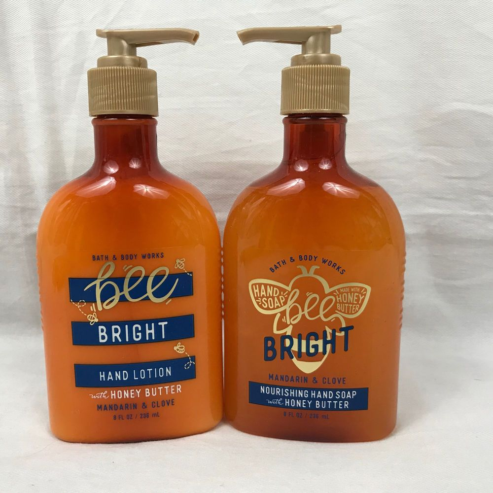 Set Of Bath And Body Works Bee Bright Hand Soap And Hand Lotion W