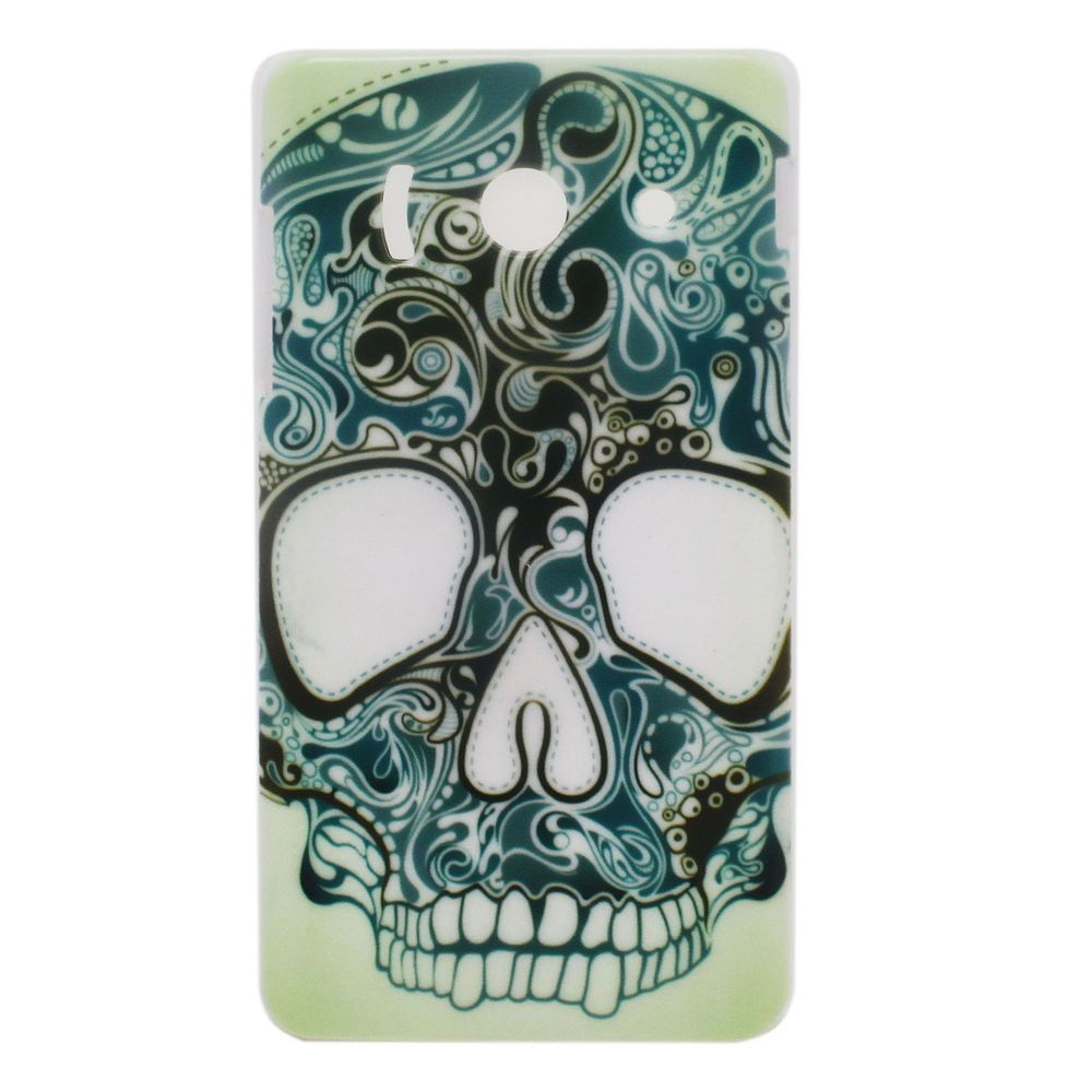 Print Flowers Skull Sign Hard Back Shell Case Cover for Huawei Ascend Y300 U8833