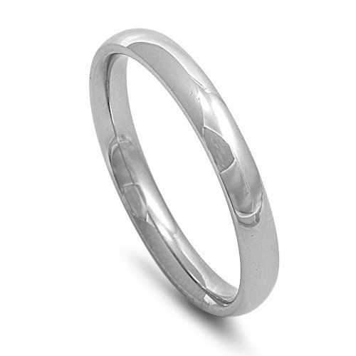 3mm Comfort Fit Stainless Steel Wedding Band Ring NakedJewelryLA.com. $3.99. Made from High Grade 316 Stainless Steel. Finish: High Polish Casting. Comfort Fit Wedding Band
