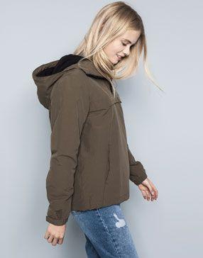 Canguro Liso Fashion Jackets Rain Jacket