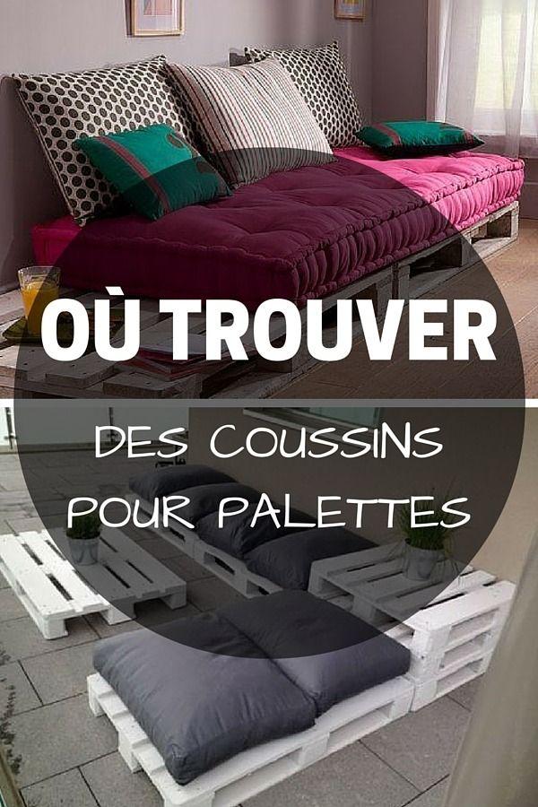 Coussin pour palette o trouver des coussins pour meubles en palette banquettes salons - Banquette en palette ...
