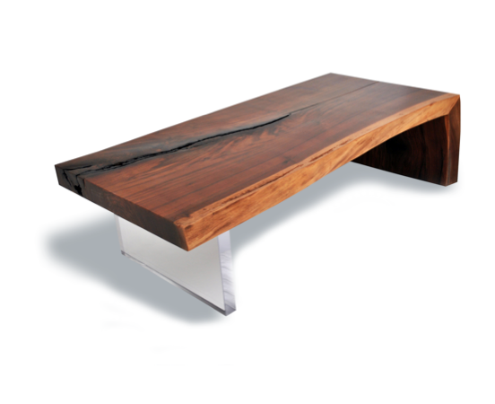 Live Edge Walnut Coffee Table Plexi Base The Live Edge