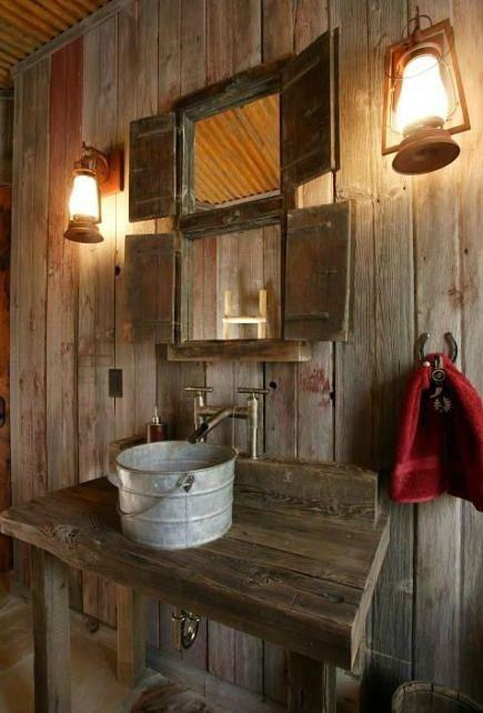 Steel Bucket Bathroom Sinks Schuur Badkamer Rustieke Badkamers