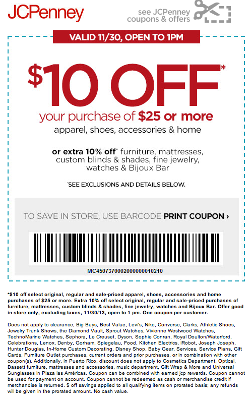 Jcpenney 10 Off 25 Printable Coupon Coupon Apps Jcpenney Coupons Printable Coupons