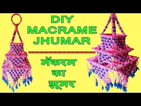 DIY How to Make Macrame Jhumar Wall Hanging Design #2 | Macrame Wall ...
