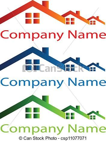 Vectors Illustration Of House Roof Logo For Real Estate Companies Csp11077071 Search Clipart Illustr Business Logo Inspiration Picture Logo Real Estate Logo