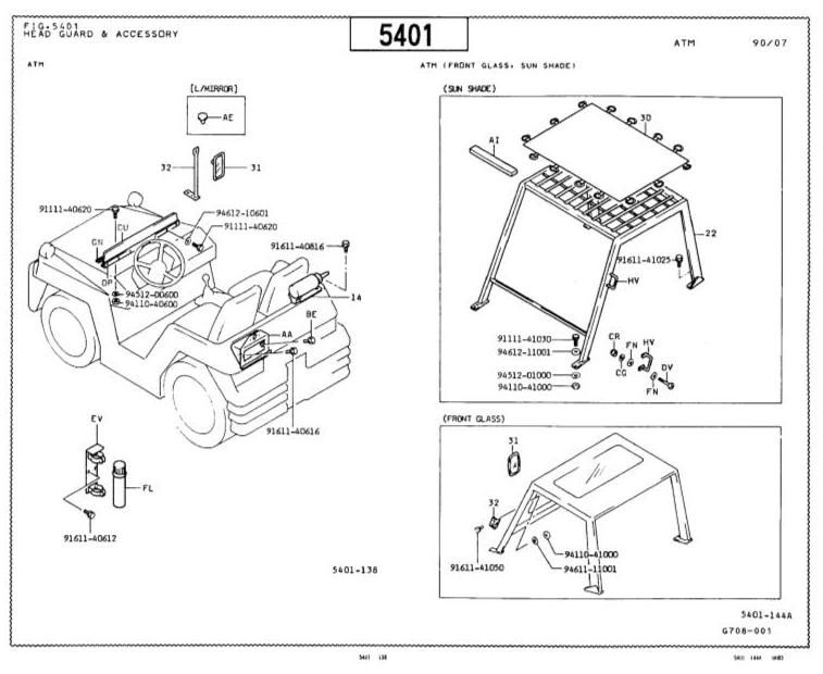 original illustrated factory parts manual for toyota towing tractor type 2tg   original factory manuals for