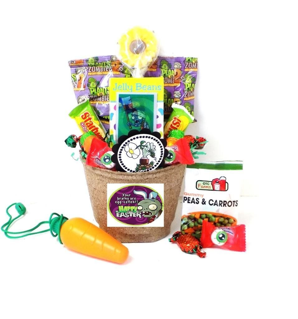 Amazon plants vs zombies toy and candy easter gift basket plants vs zombies toy and candy easter gift basket your brains are egg cellent negle Image collections