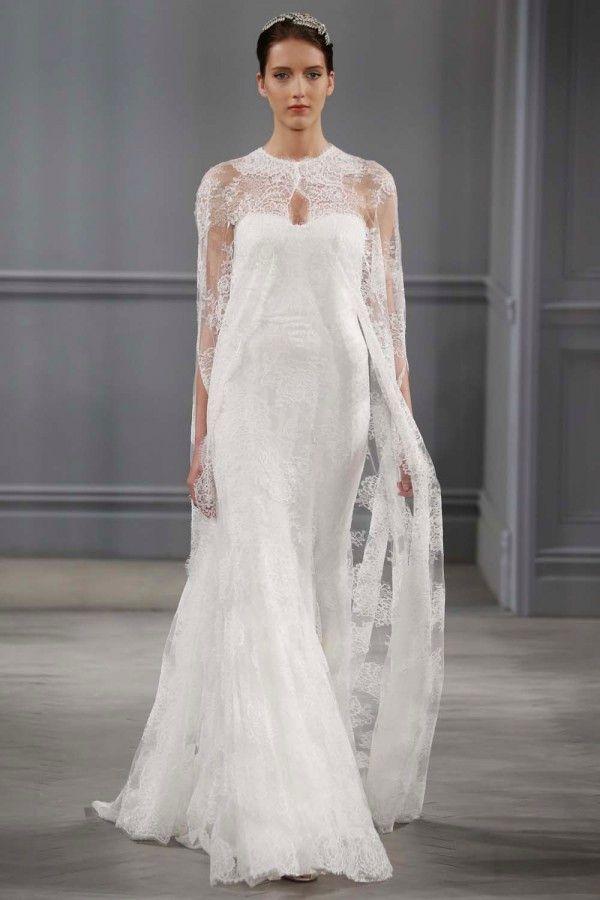 novias con capas y abrigos para las bodas más frías | novias bellas