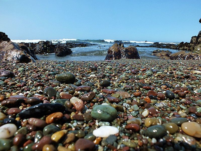 Moonstone Beach Cambria Ca Bring A Small Container Because You Can Spend Hours Picking Thru The Beautiful Rocks On