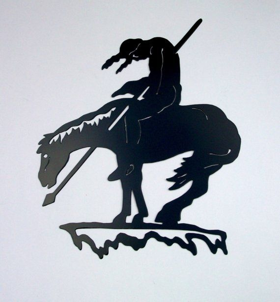 End Of The Trail Silhouette | Items similar to End of Trail Silhouette Wall Hanging on Etsy