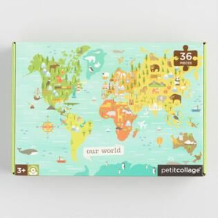 World map 36 piece floor puzzle gift ideas pinterest retro world map 36 piece floor puzzle gumiabroncs