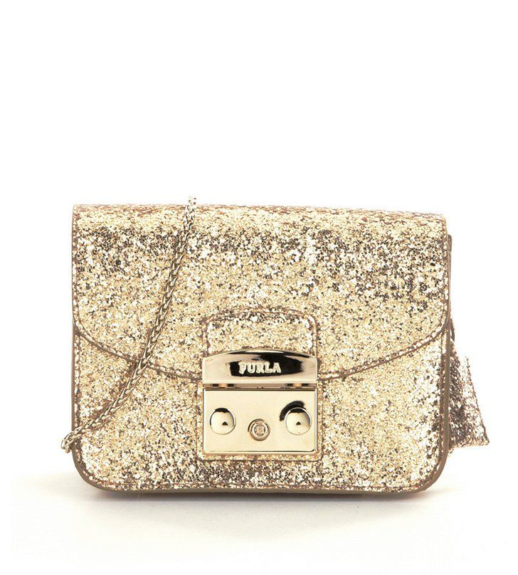 Pin for Later: 26 Holiday Clutches to Help You Sparkle All Night Long  Furla Metropolis Glitter Mini Bag ($348)