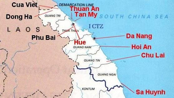 The Brown Water Navy In Vietnam Vietnam Before And After - Map of us military bases in vietnam