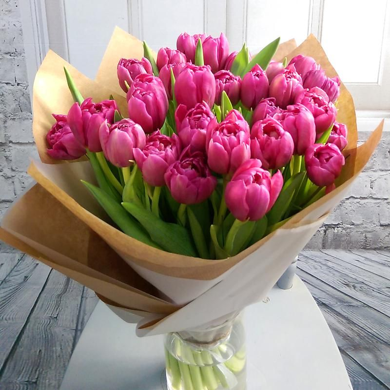 30 Pink Tulip Bouquet With Free Vase A Lovely Gift For Mum This Mother S Day Tulip Bouquet Wonderful Flowers Pink Tulips