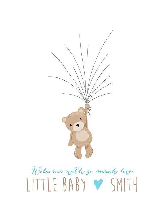 Cute Baby Shower Guestbook (Free Template) baby shower ideas - guest book template