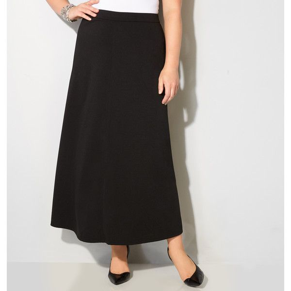 5ed01087c3 Avenue Plus Size Ponte Knit Maxi Skirt (735 ARS) ❤ liked on Polyvore  featuring