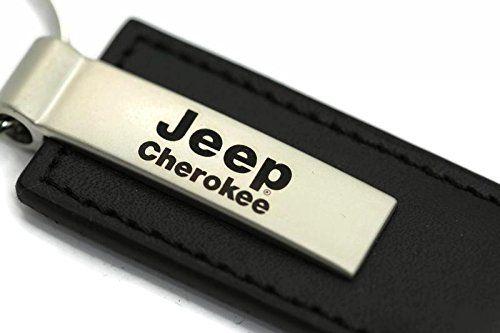 Au Tomotive Gold Inc Jeep Cherokee Leather Key Chain Black