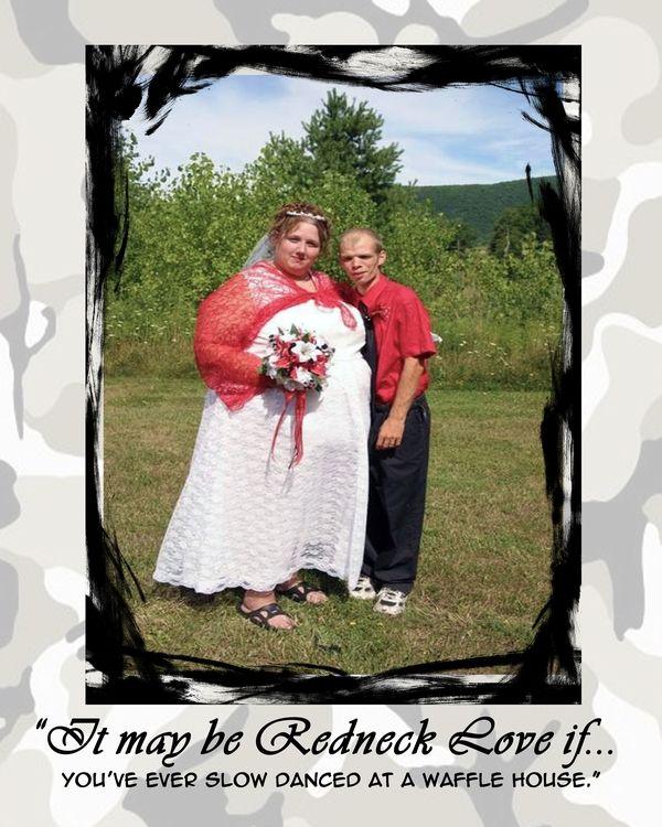 Funny Ugly Wedding Dresses: Redneck Love II Kenknuckles