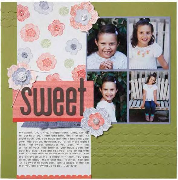Great Example Of How To Use Your Stamps For Scrapbook Layoutsom