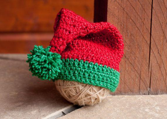 CROCHET PATTERN  Santa/Elf Hat by sweetdecemberhats on Etsy