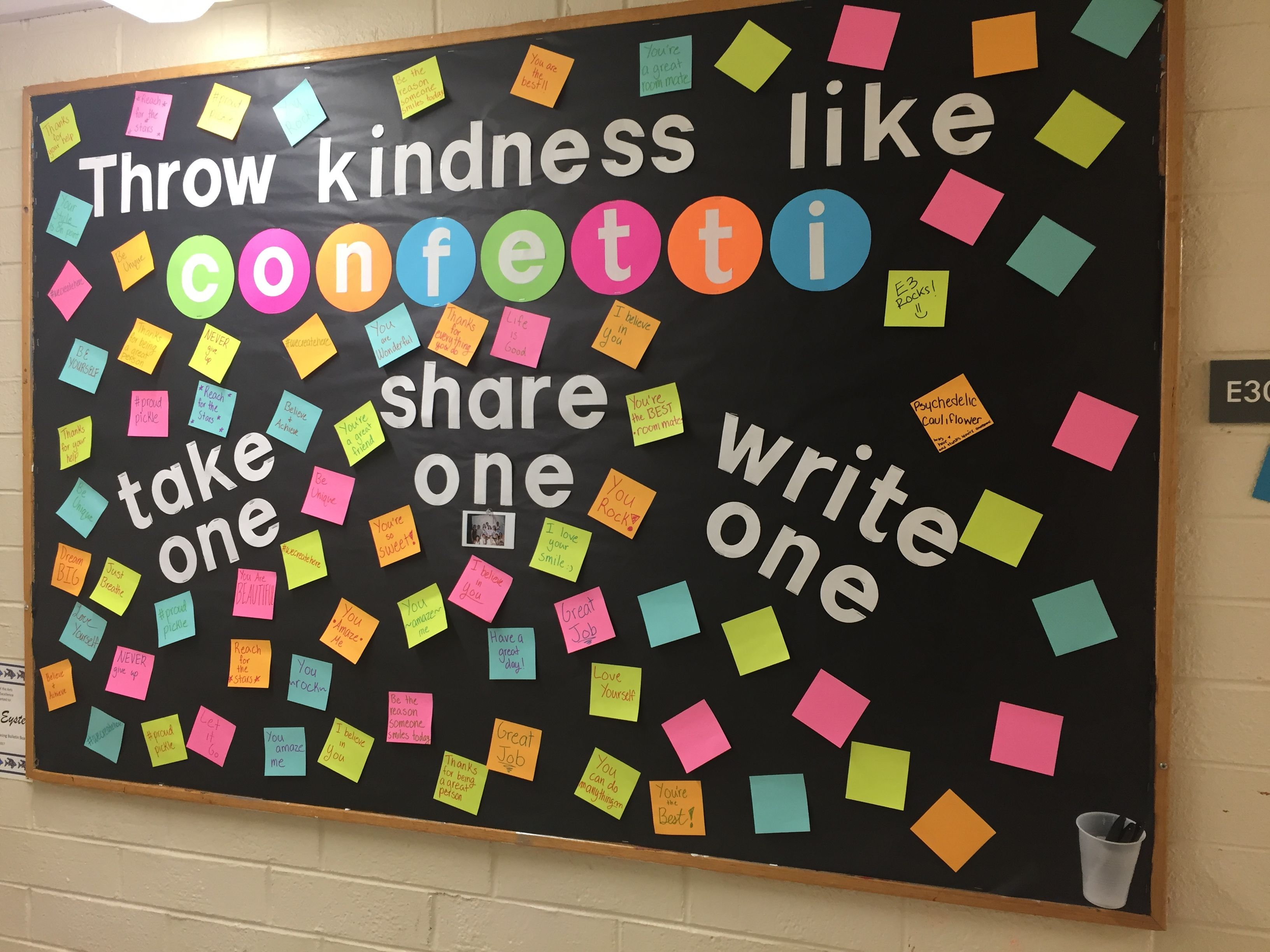 Throw Confetti-Like Kindness Bulletin Board