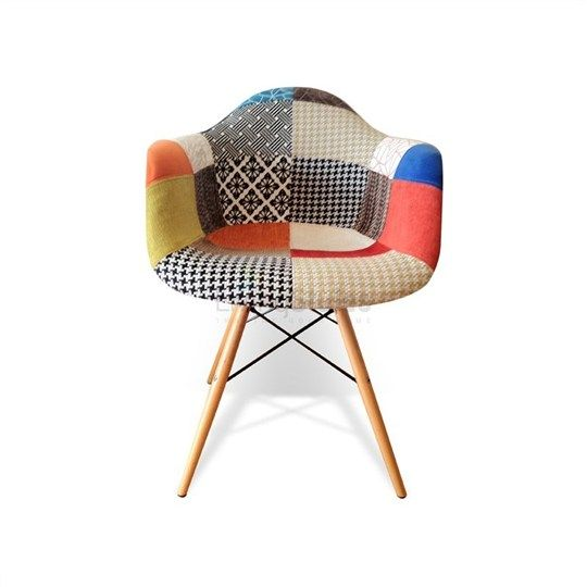 Replica eames fabric patchwork daw armchair replica for Eames chair replica uk