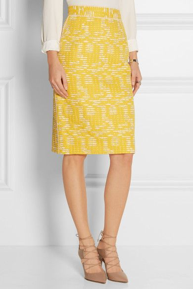 Oscar de la Renta | Cotton-blend tweed pencil skirt | NET-A-PORTER.COM, $1090, 65/28/7 cotton poly nylon, silk lining
