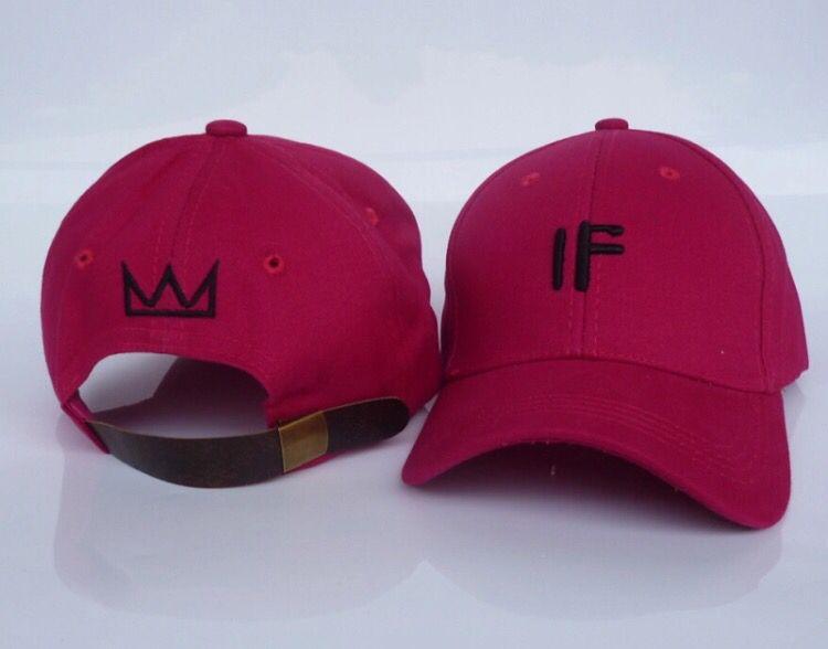 Basquiat Crown Dad Hat Strapback Streetwear IF Embroider Hat Baseball Cap