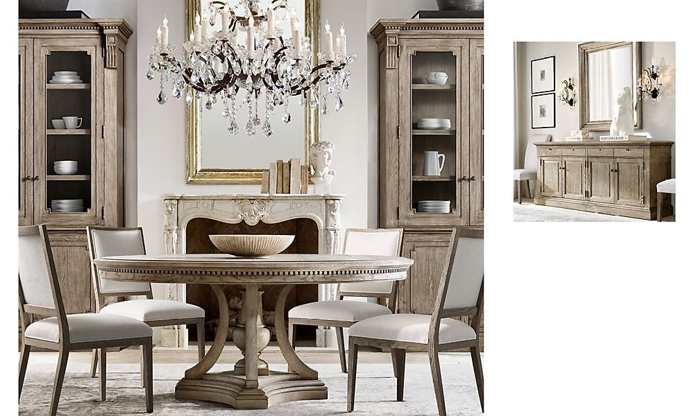 Shop St James Round Dining Dining Room Design Luxury Round Dining Room Table Restoration Hardware Dining Chairs