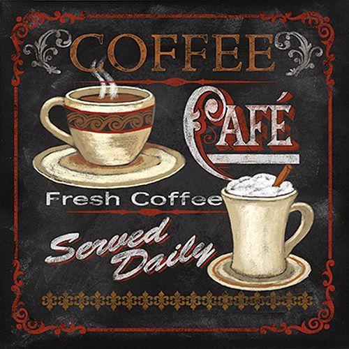 Details zu Conrad Knutsen Coffee Cafe Keilrahmen-Bild Leinwand - vintage möbel küche