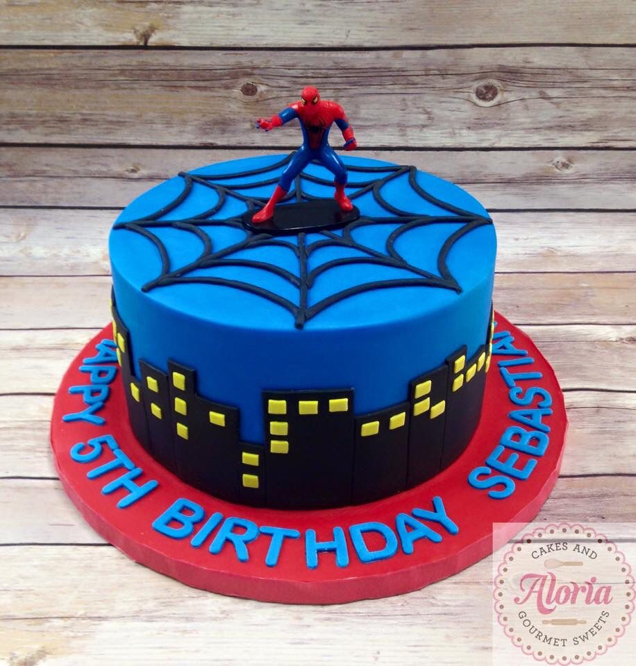 Outstanding Spider Man Birthday Cake Spiderman Birthday Cake Superhero Personalised Birthday Cards Paralily Jamesorg