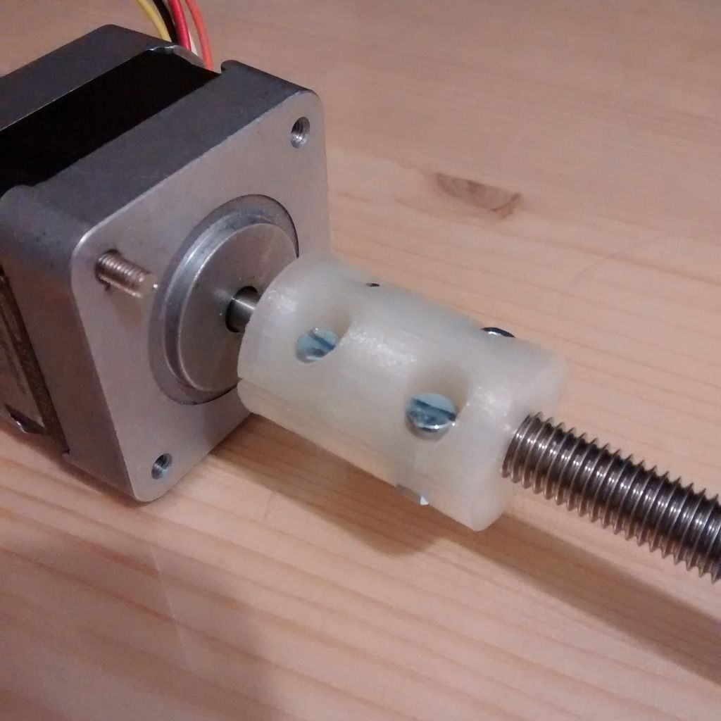 Parametric Z Axis Coupler Stepper And Threaded Rod Coupling By Aspesilorenzo Thingiverse With Images Threaded Rods Useful 3d Prints 3d Printing Business