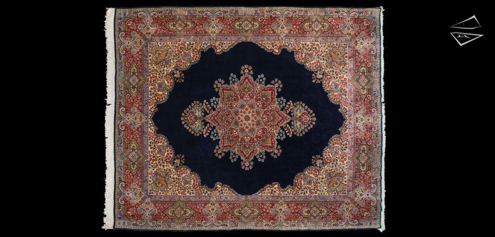 Persian Kerman Square Carpet 9 7 X 12 4 Rugs On Carpet Rugs Square Rugs