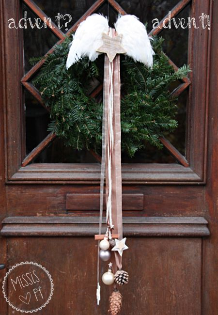 Photo of Advent door wreath :: Christmas DIY door wreath